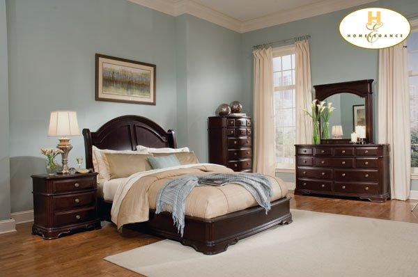 #858 Grandover sleigh bedroom 4pc set