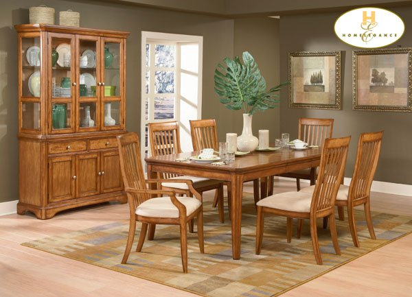 #982-78 Laurel Heights Oak Dinning Table set