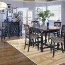 #726-36 Torino High Table set with barstools