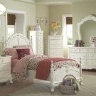 #1386T Cinderella Collection   (Twin Poster Bed)