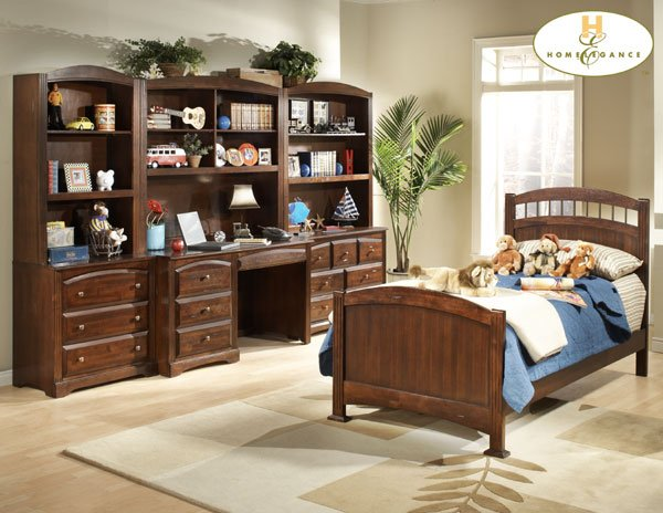 #827E Truckee collection Cherry(Twin panel bed)