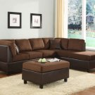 #9909CH Comfort Living Collection (Sectional) Chocolate