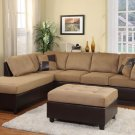 #9909BR Comfort Living Collection (Sectional) Brown
