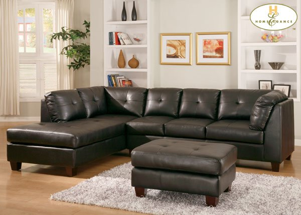 #9858BK Morgan  Sectional (Black)