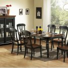 #1393 Ohana Black & Antique Table 7pc Set