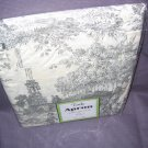 New in Package Gray and White Toile Full Size Apron
