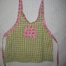 Toddler Handmade Apron 3-6 years Pink and Green Plaid