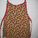 Toddler Handmade Apron 3-6 years Cranberry Red and Green  Watermellon Print