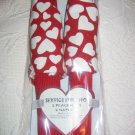 Nwt  Red Placemats and  Heart Napkins for 2
