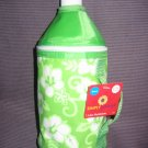 Nwt Insulated Bottle Holder 1 Liter Lime and White Tropical Print