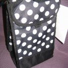 Nwt Insulated Lunch Bag Black and White Polka Dots