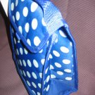Nwt Insulated Lunch Bag/Tote Royal Blue and White Polka Dots