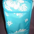 Nwt Insulated Lunch Bag/Tote Turquoiseand White Tropical Print