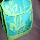 Nwt Insulated Lunch Bag/Tote Turquoiseand Lime Tropical Print