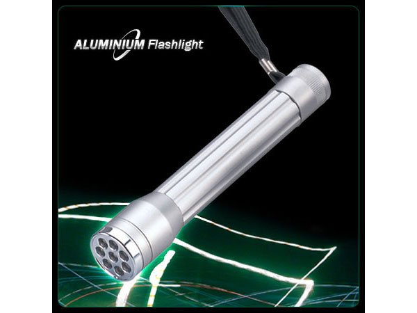 Super Bright 8 LEDS Aluminum LED Flashlight