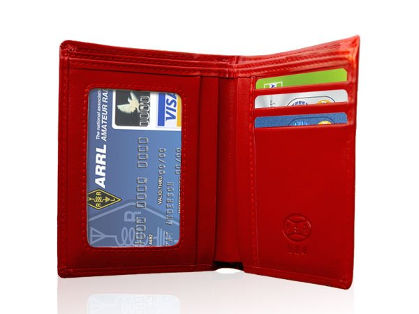 Red Innovative Wallet Clutch with Demagnetization-proof Design