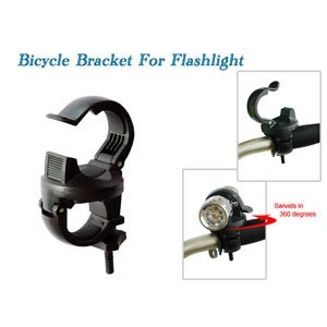 Lots of 2 Mountain Bike Road Bicycle Bracket Clip for LED Flashlight