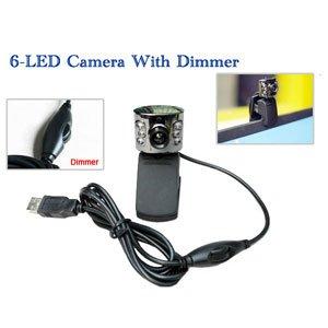 Super Bright 1.3M PIXEL VISTA 6-LED USB Web Cam / Camera PC Webcam With Dimmer