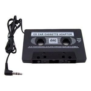 Lots of 2 CAR RADIO AUDIO CASSETTE TAPE ADAPTER for iPod Nano MP3/ CD