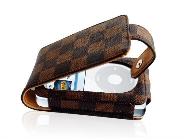 Lots of 30 pcs Brown Leather Case for iPod Video30/60/80GB
