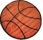 """Fun Times Shapes Basketball 39""""Round Rug...???!!!"""