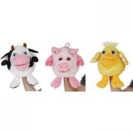"""6"""" Assorted Hand Puppets With Sound Case Pack 12 ...???!!!"""
