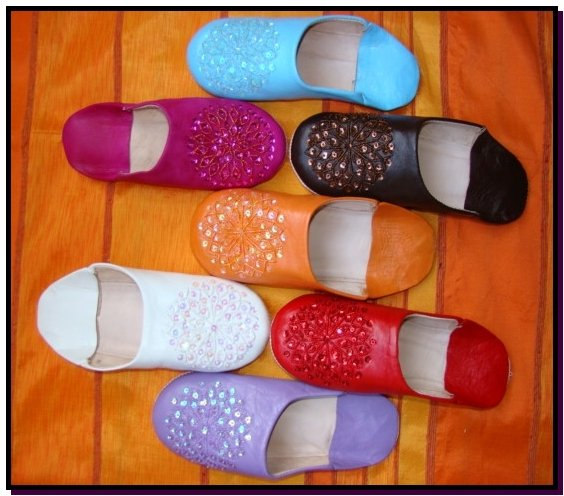 Sequins slippers