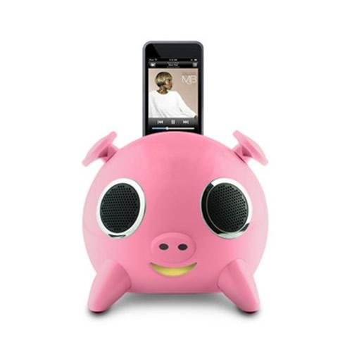 iPig Pink- iPod Docking Speaker for Apple iPod, iPhone, MP3, MP4, PS3, Wii