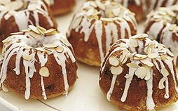 Vanilla Almond Baby Bundt Cakes