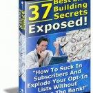 """37 List Building Secrets Exposed"""