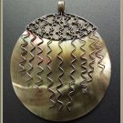 Large Silver Mother Of Pearl Pendant