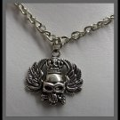 Gothic Skull on Chain - Chrome