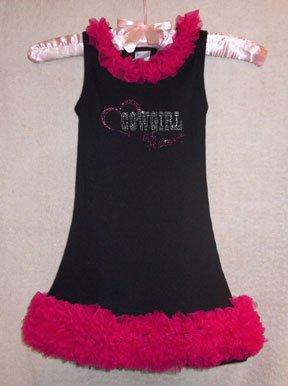 Rhinestone Cowgirl at Heart Chiffon Ruffled Dress