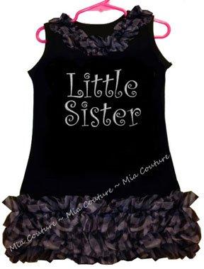 Sparkly Little Sister Zebra Chiffon Ruffled Dress