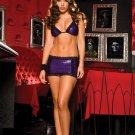 Tri Top w/Lace Trim Skirt Set