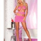 Pink lipstick nocturnal seamless mini dress pl5015