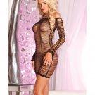 Pink lipstick string me along shredded dress black  PL5017