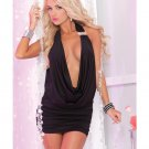 Diamond Drape Mini Dress PL5025