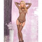 Forbidden Fishnet Garter 3 Pc Set PL7001