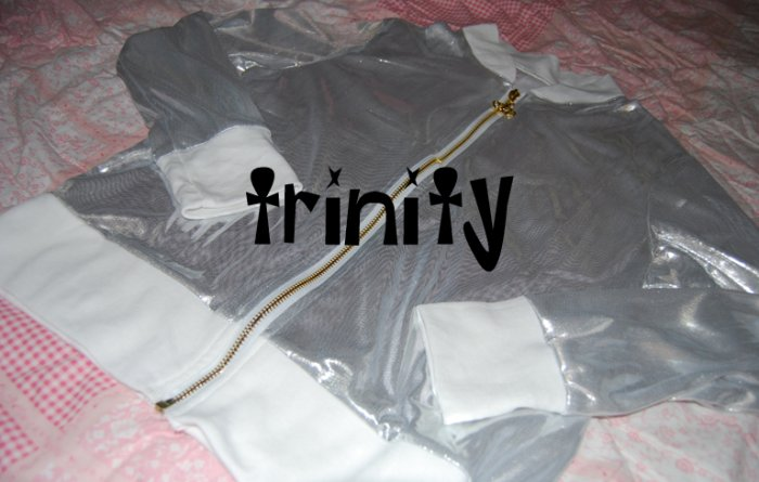 Shiny white jacket