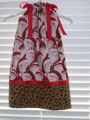 Santa Face Pillowcase Dress