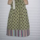 Sage Green Deep Purple Polka Dot Pillowcase Dress