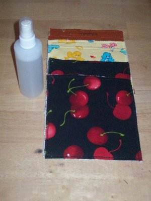 Handmade Cloth Baby Wipes w/Solution