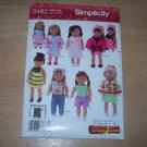 Simplicity Doll Clothes Pattern 0482