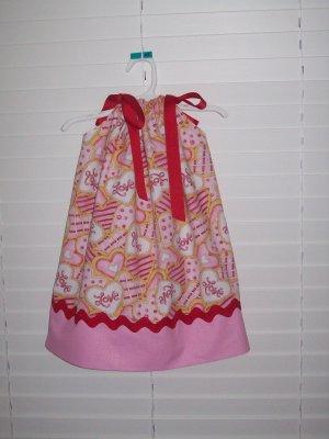 Adorable Valentine Hearts Pillowcase Dress, 24 Months