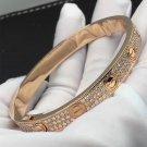 Cartier 18K Love bracelet, Rose gold, Diamond paved