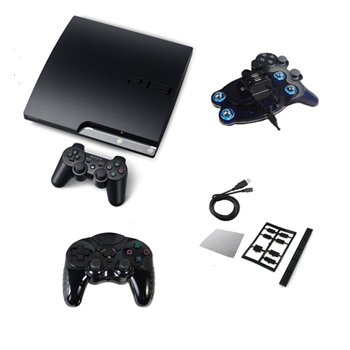 """Sony Playstation 3 120GB Slim """"Mega Bundle"""" w/ Controller, Charging Dock, and More"""