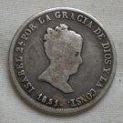 Spain, 2 Reales, 1851 RD