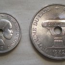 Laos, 10 Cents and 50 Cents, 1952