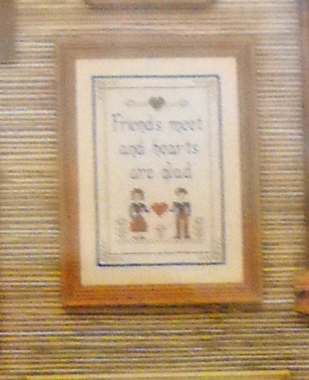 Counted Cross Stitch kit from Boyd Enterprises - Friends meet